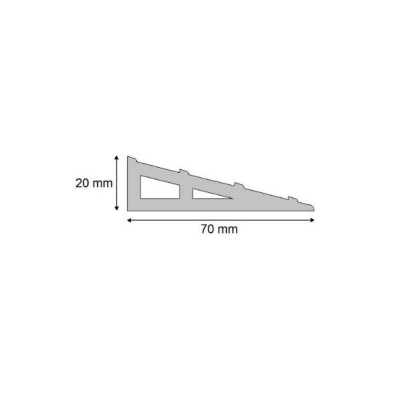 Rampe d'accès pour ressaut pmr - hauteur 40mm