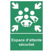 Panneau espace d'attente sécurisé PMR