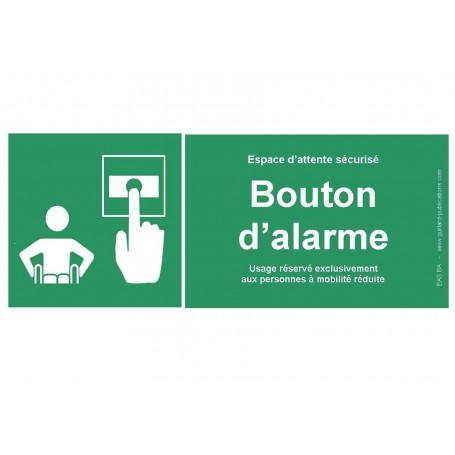 Panneau Signal bouton d'alarme pour PMR - Guillard
