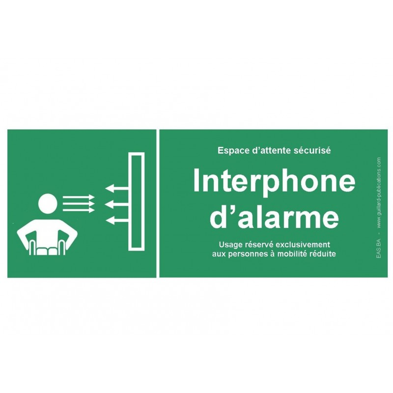 Panneau signal interphone d'alarme pour PMR - Guillard