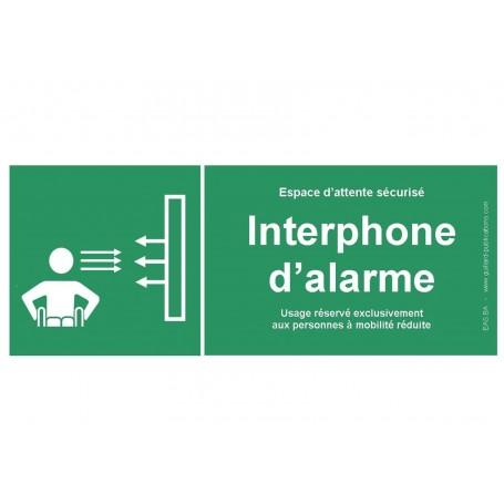 Panneau signal interphone d'alarme pour PMR