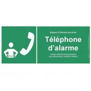 Panneau téléphone d'alarme pour PMR