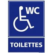 Support de signalisation toilettes