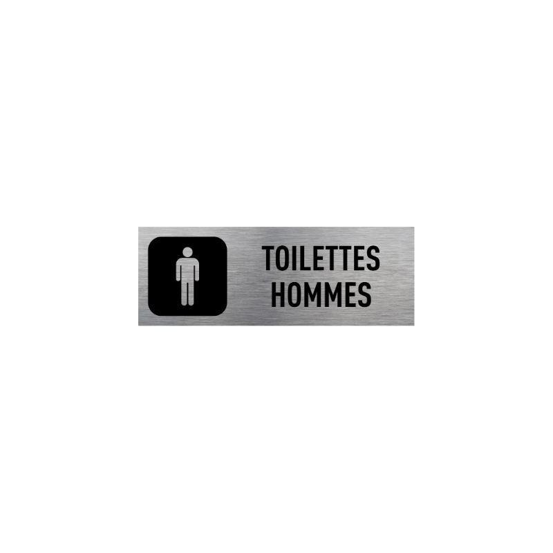 Plaque signalétique toilettes hommes