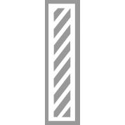 Pochoir bande zébra 20 cm en PVC