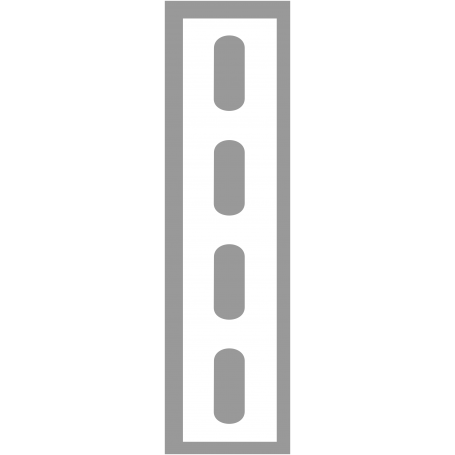 Pochoir ligne en ovales en PVC