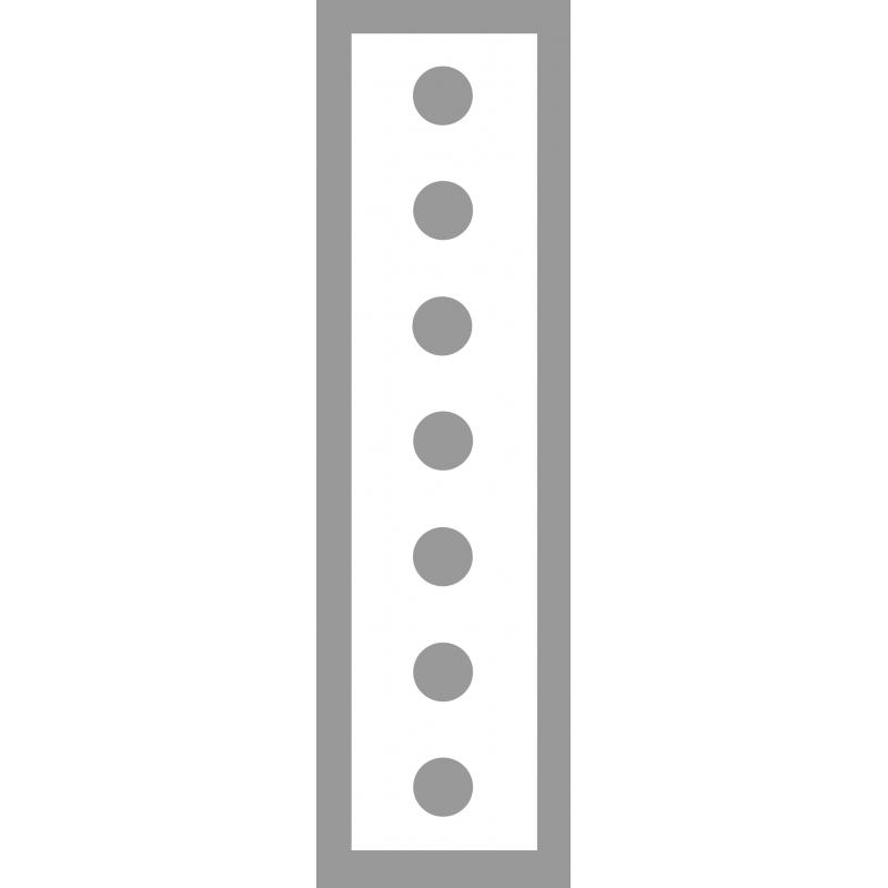 Pochoir ligne en points en PVC