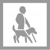 Pochoir handicap visuel avec chien en PVC