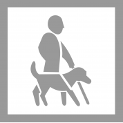 Pochoir handicap visuel avec chien en PVC MDH POCHOIR179