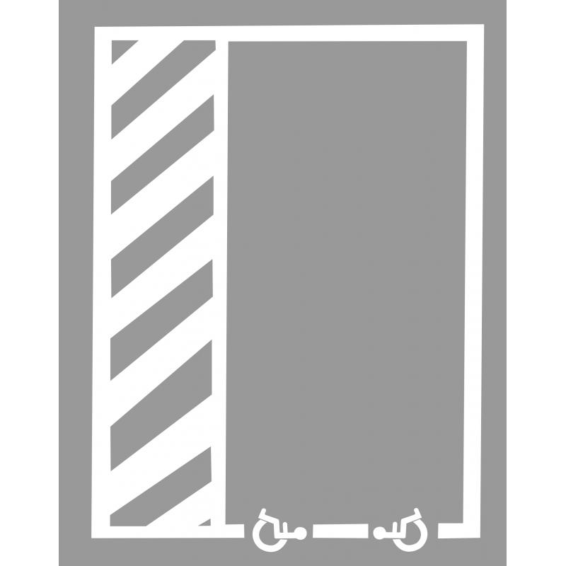 Kit place de parking en PVC MDH POCHOIR93
