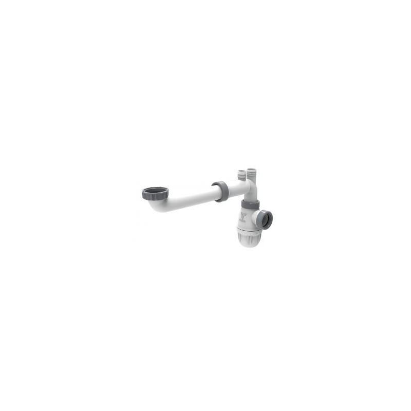 Tubulure gain de place Connectic lavabo Ø32
