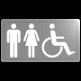 Plaque inox handicapé mixte