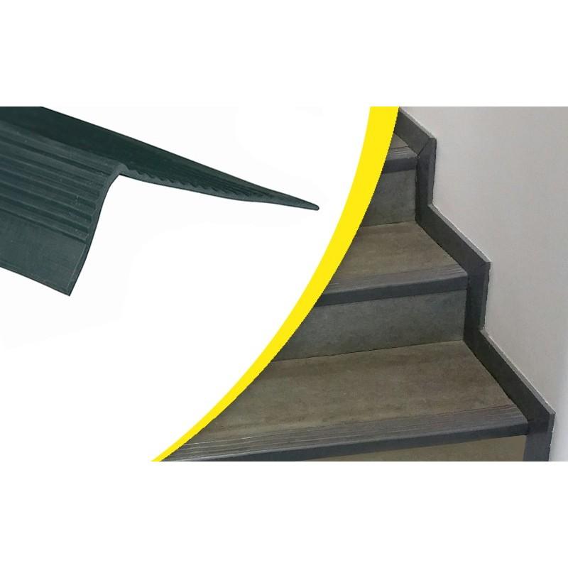 2 marches Stand Escalier Acier Escalier emplacement libre largeur 80 cm hauteur 42 cm Noir