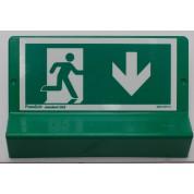 Support de signalisation issues de secours symbole et braille - bas droit