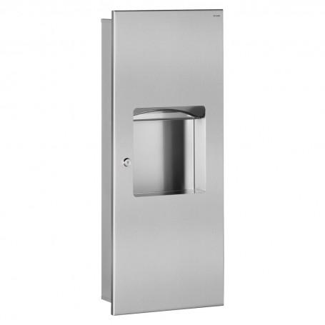 Combi Distributeur – Réceptacle d'essuie-mains 10L DELABIE 510714S
