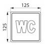 plaque Inox WC - mesure