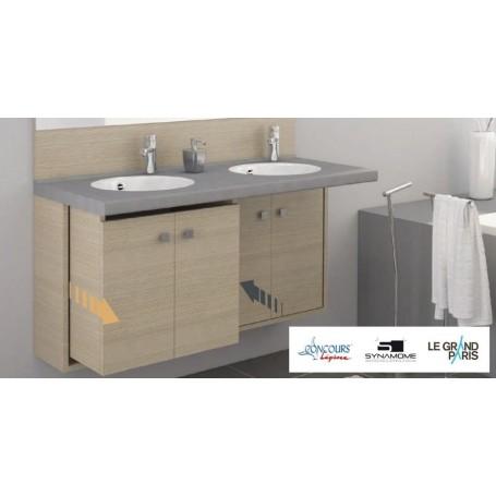 Ensemble mobilier salle de bain gamme Retract - Chêne Vert - illustration 1