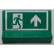 Support de signalisation issues de secours symbole et braille - haut droit