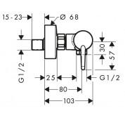 Mitigeur thermostatique de douche - mesure 2