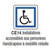 Panneau d'indication de services CE 14 - Ecolign - NADIA