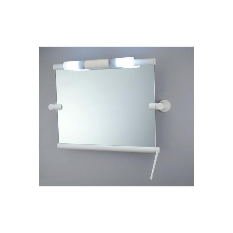 Miroir inclinable blanc, 515x600 mm