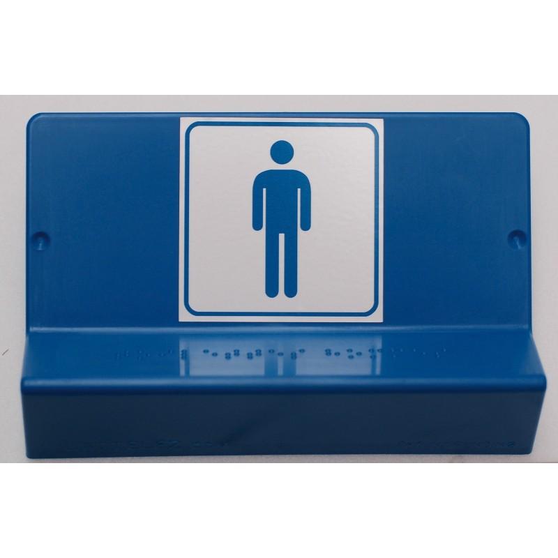 Support de signalisation WC homme symbole et braille