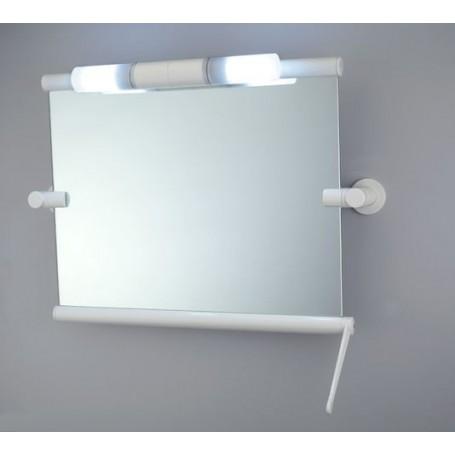 Lampe pour miroir inclinable sans cadre