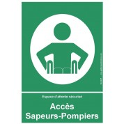 Panneau Accès Sapeurs-Pompiers - espace d'attente sécurisé pour PMR