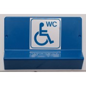 Support de signalisation WC PMR symbole et braille