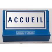 Support de signalisation ACCUEIL symbole et braille