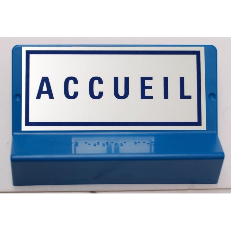 Signalétique braille ACCUEIL