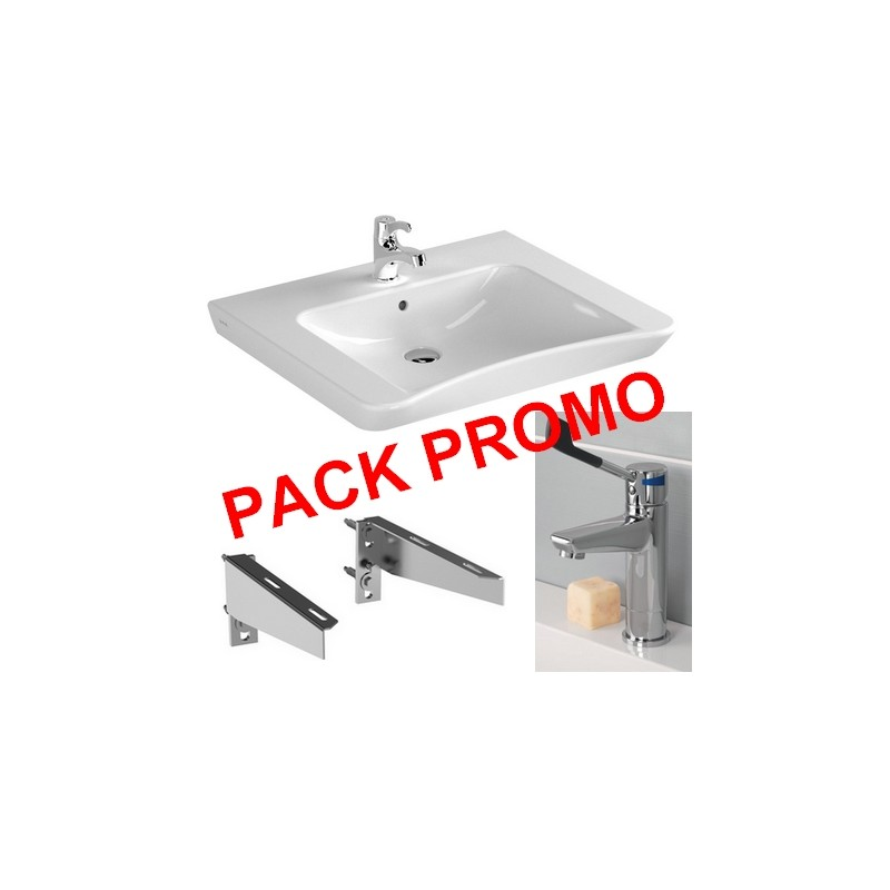 Pack Lavabo PMR + Fixation + mitigeur