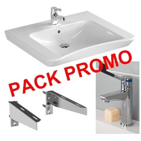 Pack Lavabo PMR + Fixation + mitigeur