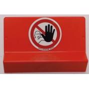 Support de signalisation DEFENSE D'ENTRER symbole et braille