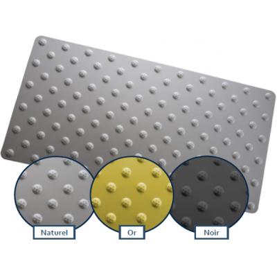 Déstockage - Dalle podotactile lisse en alu anodisé