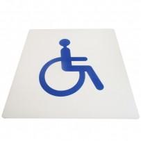 Signalétique accessibilité sol PMR