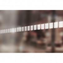 Ruban adhésif pour repérage des surfaces vitrées - carré