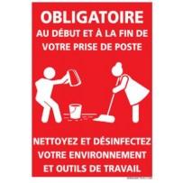 signalétique Covid nettoyage