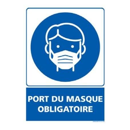 Signalétique adhésif mur - Port du masque obligatoire