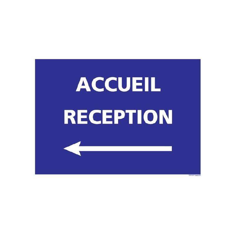 Signalétique adhésif - Accueil Réception