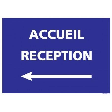 Signalétique adhésif - Accueil Réception _ flèche gauche