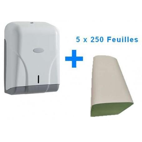 Lot Distributeur d'essuie-mains DISPONAL + feuilles