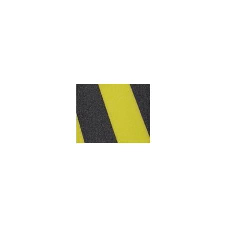 Surface antidérapante bicolores auto-adhésive - Jaune / Noir