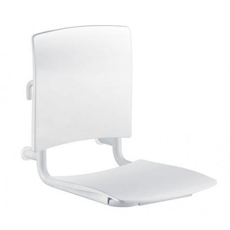 Siège Grand Confort amovible à accrocher blanc DELABIE 510300