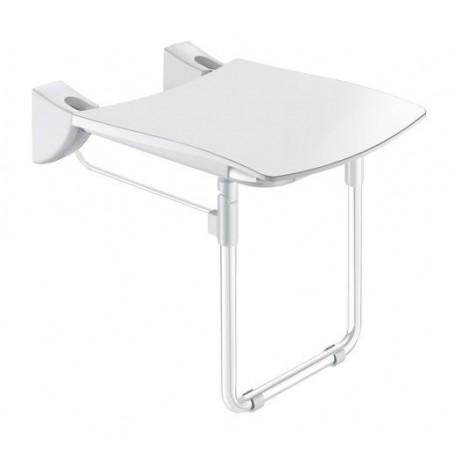 Siège Grand Confort relevable avec pied blanc DELABIE 510430