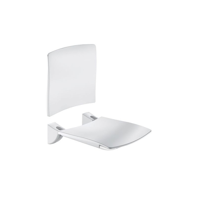 Siège Grand Confort relevable, siège avec dosseret blanc DELABIE 510434