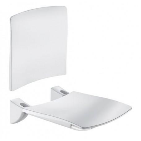 Siège Grand Confort relevable, siège avec dosseret blanc