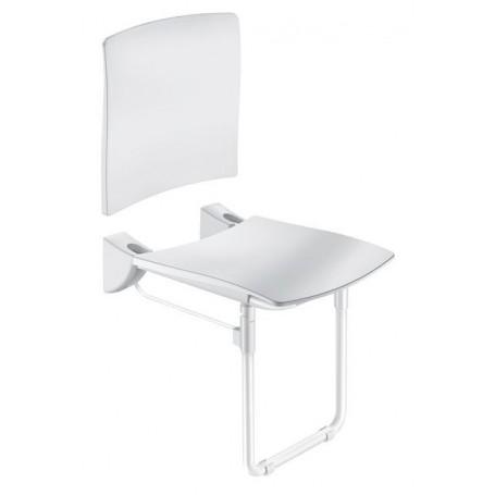 Siège Grand Confort relevable avec pied blanc DELABIE 510436