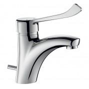 Mitigeur lavabo H.85 L.135 avec vidage - DELABIE 2520L