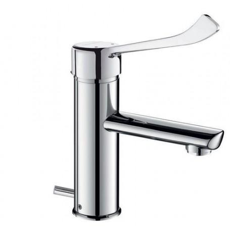 Mitigeur lavabo SECURITHERM H.85 L.120 avec vidage - DELABIE 2820LEP